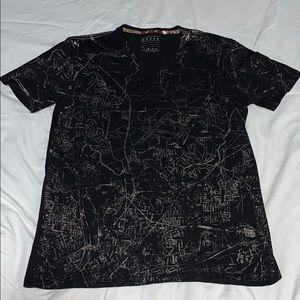 Guess Men's Graphic V-Neck Short Sleeve T-Shirt